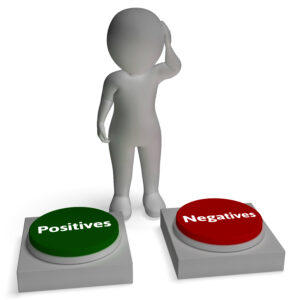 Positives Negatives Buttons Shows Pros And Cons